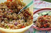 Curry dulce receta de ensalada de arroz de verano