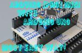 Cómo programar Arduino Pro Mini con Arduino Uno y ArduShield - sin los cables de