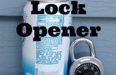 Abrir Pad cerraduras y candados de combinación con una lata de Soda