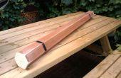 Palo de lluvia realizado de madera persianas