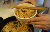 Los fideos Udon en salsa de Miso
