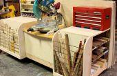Combo para cortar ingletes Sierra madera soporte para estaciones de