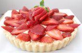 Tarta de tarta de fresa (con crema pastelera microondas!)