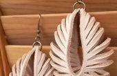 Transformable de cuero esculpido pendientes