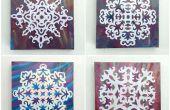 Arte de la pared DIY copo de nieve