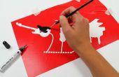Estarcir gráficos con pintura eléctrico