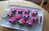 Cerebros y Zombie Cupcakes
