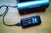 Cargador solar DIY para linternas de cargador de teléfono móvil.