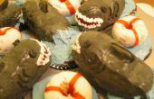 Tiburón y Cupcakes del ahorrador de vida