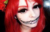 Halloween maquillaje usando esclerótica círculo lentes