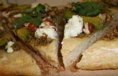 Nuez Pesto Chevre Pizza: Estilo de Tex-ican