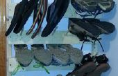 Vertical zapato Rack - Peg Board escalera