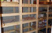 Frigorífica en el sótano de la casa / almacenamiento de conservas / almacenamiento en frío unidad - guía de construcción -
