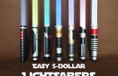 Fácil $5 sables de luz