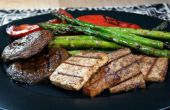 Tofu y verduras a la plancha