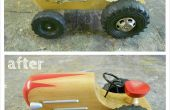 Restaurar un tractor de juguete de madera