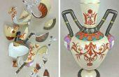 Reparación y relleno de cerámica rota y cerámica