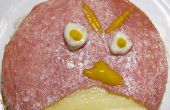 Enojado aves abierto cara Sandwich con ingredientes comunes