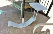 Soporte de paraguas de patio del viejo Monte de trampolín