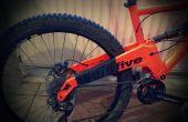 Bicicleta marco cadena-bofetada protección