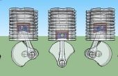 Modelo del motor de impresión 3D