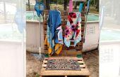 Estación de piscina plataforma