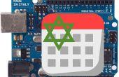 Reloj LCD con calendario hebreo fecha y un termómetro