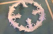 Copo de nieve de papel de lujo DIY invierno