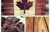 Verdadero amor Patri-Art - mi bandera canadiense madera
