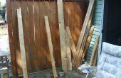 Reciclado madera de palet doble silla Banco