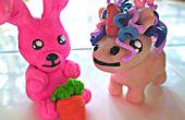 Algodón Candy arcilla conejo y unicornio loco
