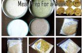 Preparación de la comida para una semana