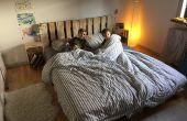 Plataforma sencilla y elegante cama