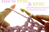 Cómo delantera y poste doble crochet (FPDC & BPDC)