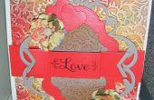 Cómo hacer un grifo Anna amor Floral tarjeta en relieve