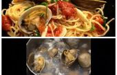 Espaguetis con almejas receta