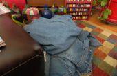 Desmontando un par de pantalones vaqueros con la menor cantidad de residuos