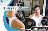 Inicio instalación de espejo de pared gimnasio Fab cristal y espejo