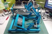 Mecanismo de cuatro barras distribución de folleto Robot