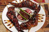 Dulce Dragon Wings con salsa de maní picante