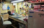 Mi espacio de trabajo de Pegboard sótano