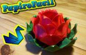 Fácil Origami: Cómo hacer una flor de loto