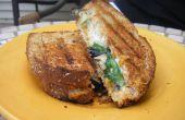 A la plancha Sandwich de berenjena (vegetariano)