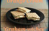 Galleta sándwich con naranja crema relleno
