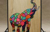 Proyecto de impresión de pantalla DIY sencillo y divertido en placa de madera