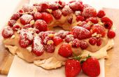 Torta Pavlova con crema de Nutella dulce y fruta