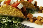 Callos de bebé queso verduras Tacos