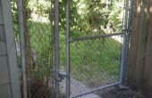 Añadir más privacidad a la cerca del acoplamiento de cadena con arte madera