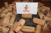 Reutilizar corchos de vino para hacer divertidas tarjetas del lugar