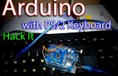 Arduino + teclado PS/2 controlado por LED Flasher